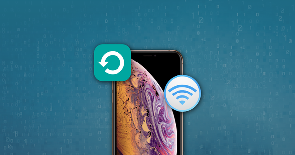 Abstract image showing Wi-Fi sync and backup of an iOS device