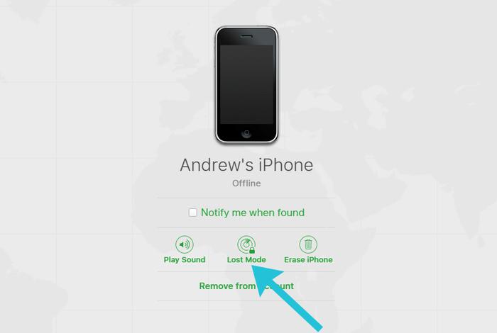 icloud найти iphone автономный режим