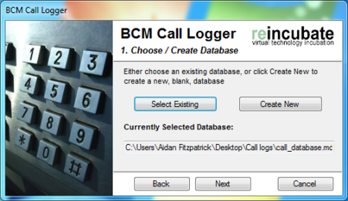 Assistant d'installation de BCM Call Logger