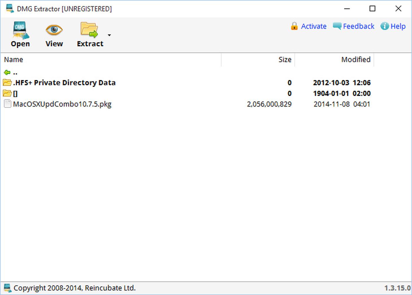 DMG Extractor: extraire et lire des fichiers Mac DMG sous