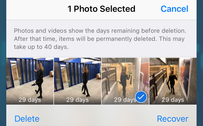 Recovering photos from the Photos app