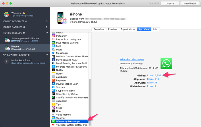 iPhone Backup Extractor: recover iOS data from iTunes and iCloud backups